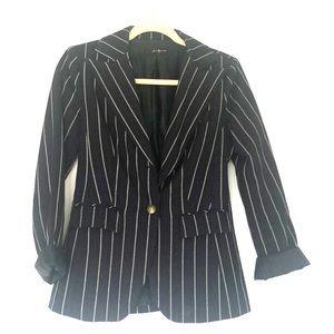 Navy oxford style blazer